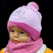 artex комплект шапка одинарн.вязка + шарф (р.44-46)
