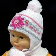 Politano комплект шапка двойная вязка+шарф (р.40-42)