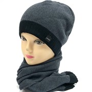 Barbaras-QVERC комплект IZ 26/0B шапка двойн.вязк+шарф (р.54-56)