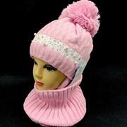 AGBO комплект 1787 JADWIGA шапка на флисе+снуд (р.48-50)