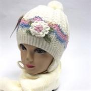 Politano комплект шапка двойная вязка+шарф (р.50-52)