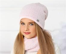 .AJS комплект 36-487 шапка двойная вязка + снуд (р.54-56)