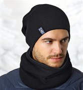 .AJS комплект 36-492 шапка двойная вязка+снуд (р.52-54)