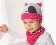 .AJS комплект 38-031 шапка одинарный трикотаж + манишка (р.44-46) белая