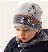 .AJS комплект 38-046M шапка одинарный трикотаж + снуд (р.48-50)