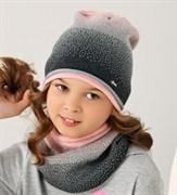 .AJS комплект 38-131 шапка одинарная + снуд (р.52-54)