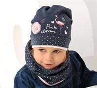 .AJS комплект 40-096L шапка одинарный трикотаж + снуд (р.52-54)