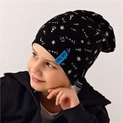 .AJS шапка 38-185 двухсторонняя, двойн.трикотаж (р.52-54)