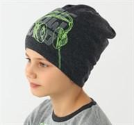 .AJS шапка 38-152 одинарн.вязка (р.54-56)