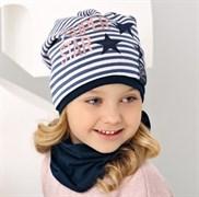 .AJS шапка 38-135 одинарн.трикотаж (р.52-54) серая