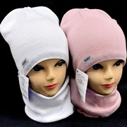 AGBO комплект 2133 NEWA шапка подкл.хлопок+ снуд (р.50-52)