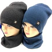 AGBO комплект 2089 FAZI шапка подклад хлопок + снуд (р.50-52)