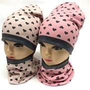 ambra комплект шапка дв.трикотаж + снуд (р.50-54)