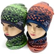 ambra шапка двойной трикотаж + снуд (р.48-52)