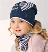 .AJS комплект 38-138 шапка одинарн.трикотаж + снуд (р.52-54)