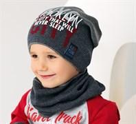 .AJS комплект 38-192 шапка одинарная вязка + снуд (р.52-54)