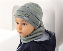 .AJS комплект 38-043 шапка одинарная вязка+ снуд (р.46-48) Free Style