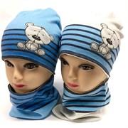 ambra шапка двойной трикотаж + снуд (р.48-50)