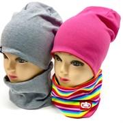TuTu комплект модель 5-000121 шапка двойной трикотаж + снуд (р.52-54)