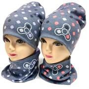 ambra шапка двойной трикотаж + снуд (р.50-54)