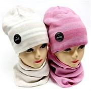 AGBO комплект 2090 Agawa шапка подклад хлопок + снуд (р.52-54)