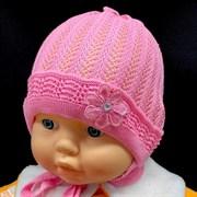 amal шапка ажурная вязка (цветок) (р.44-46)