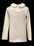 блузка ЛЮТИК модель 10108 трикотажная, кремовая (р.122,128,134,140,146)