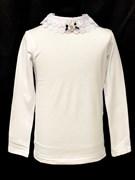 блузка ЛЮТИК модель 10109 длинный рукав, трикотажная, белая (р.128,134,140,146,152,158)