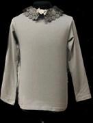 блузка ЛЮТИК модель 10109 длинный рукав, трикотажная, серая (р.128,134,140,146,152,158)