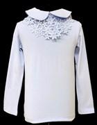 блузка ЛЮТИК модель 10108 трикотажная, голубая (р.122,128,134,140,146)
