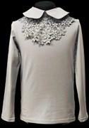 блузка ЛЮТИК модель 10108 трикотажная, серая (р.128,134,140,146,152)