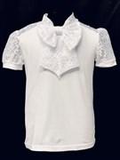 блузка ЛЮТИК модель 10110 к/р трикотажная, белая (р.122,128,134,140,146)