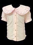 fenimark блузка короткий рукав. полоски, белая (р.128-152)