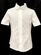 блузка ЛЮТИК модель 20188 кор.рукав, белый (рост128,134,140,146,152)