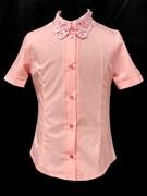 блузка ЛЮТИК модель 20188 кор.рукав, розовый (рост128,134,140,146,152)
