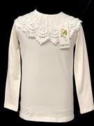 блузка ЛЮТИК модель 10107 д/р трикотажная, кремовая (р.122,128,134,140,146)
