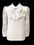блузка ЛЮТИК модель 10110 д/р трикотажная, белая (р.122,128,134,140,146)