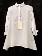 SLY модель 125/S/17 блузка белая длин.рук.  (р-ры134-164) 6 шт.