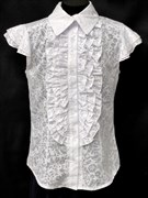 блузка ЛЮТИК модель 20143 подросток,рукава-крылышки узоры (р.140,146,152,158,164)