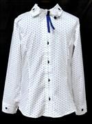 блузка ЛЮТИК модель 20178 длинный рукав в кубик (рост128,134,140,146,152)