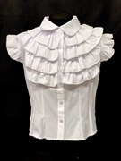 MAGICjunior модель 117 блузка, рукав крылышки, белая(р-ры.134,140,152,158)
