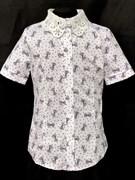 блузка ЛЮТИК модель 20191 короткий рукав бантики (рост 128,134,140,146,152)