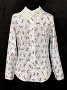 блузка ЛЮТИК модель 20191 длиный рукав бантики (рост 128,134,140,146,152)