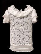 блузка для девочки  рук. крылышки белая (р.28-38)