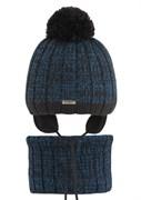 AGBO комплект 2419 Emiro3 шапка с утеплит.подкл.хлопок+ снуд (р.46-48)
