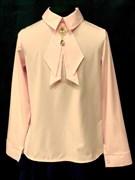 AGATKA блузка длин.рук. съёмный галстук, розовый (р.128-158) 6 шт.