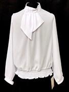 SLY модель 107 блузка белая длинный рук.  (р-ры134-158) 5 шт.