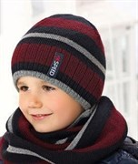 .AJS комплект 38-537 шапка двойная вязка + снуд (р.52-54)