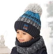 .AJS комплект 38-534 шапка подкл.флис+снуд (р.52-56)