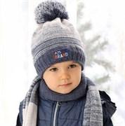 .AJS комплект 38-476 шапка подклад флис+шарф (р.50-52)